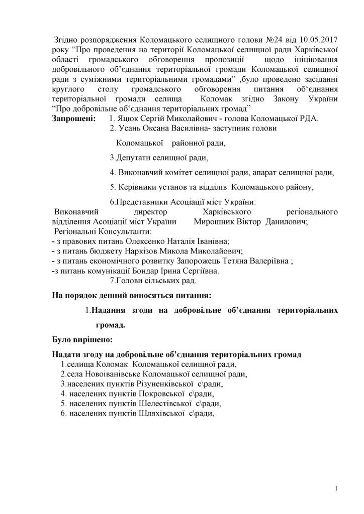 Ведення ОБГОВОРЕННЯ В ГРОМАДИ КоломакРДА0001